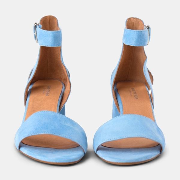 Bear Suede May Heeled Sandal Light Blue